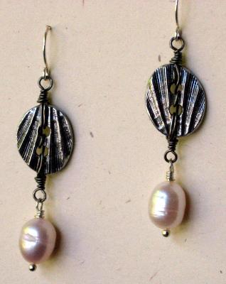 Pewter Seashell Earrings