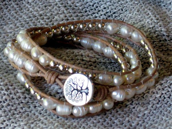 product life is triple bracelet beige wakami retailers wrap beigesilver what