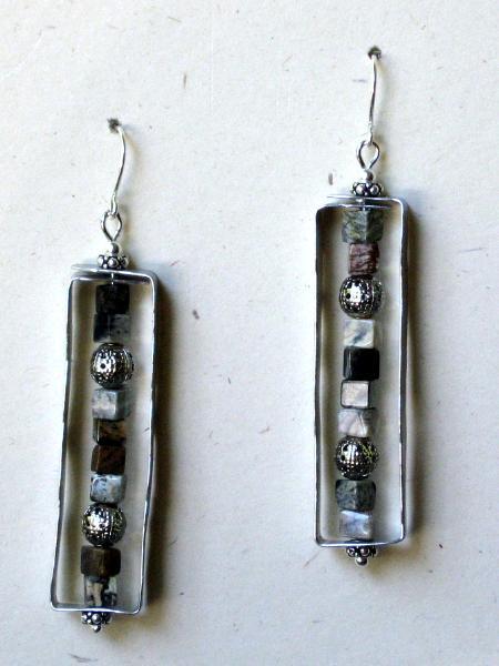 Framed Jasper Earrings