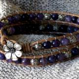 Amethyst Wrap Bracelet for Ashley