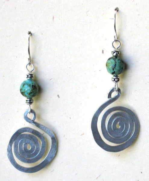 Small Aluminum Spiral Earrings