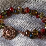 Autumn Crystals Leather Bracelet