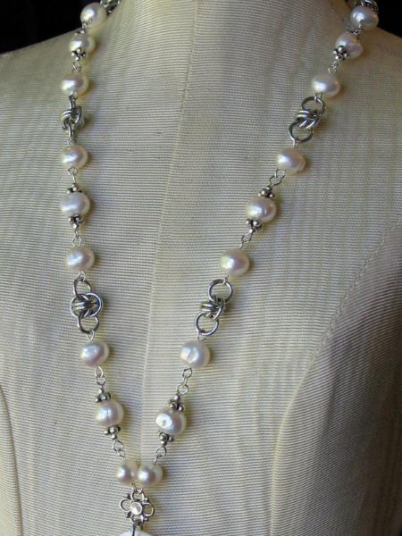 Pearl and Chainmaille Necklace