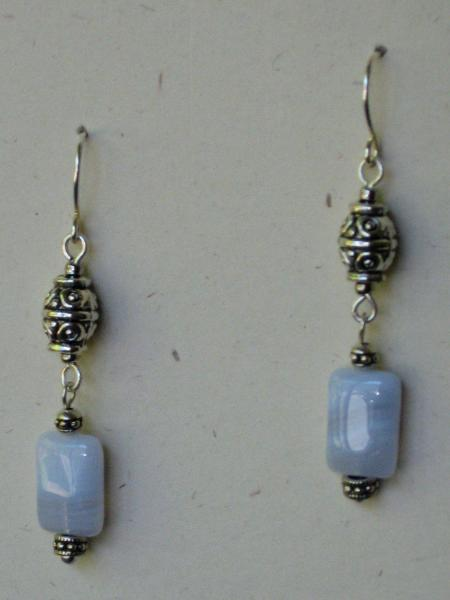 Blue Lace Agate and Pearl Necklace