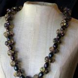 Purple Pearls Cluster Necklace