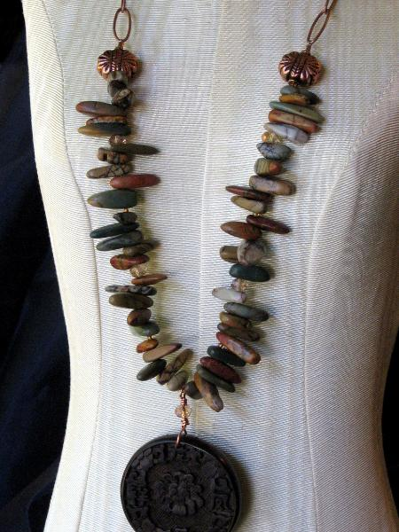 Picasso Jasper and Copper Chain Necklace