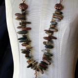 Picasso Jasper and Copper Chain Necklace