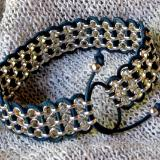 Woven Rollo Chain and Leather Bracelet