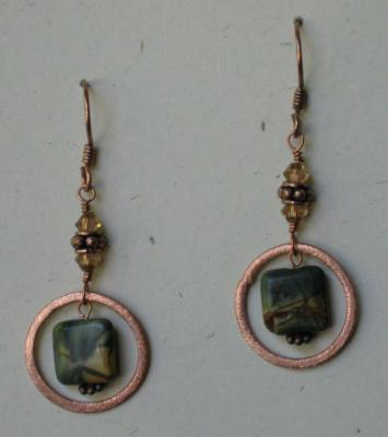Picasso Jasper and Copper Earrings