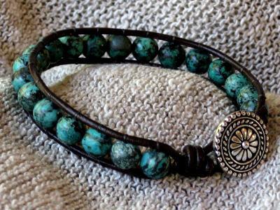 Turquoise Single Wrap Bracelet