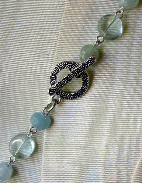 Aquamarine and Glass Links Necklace