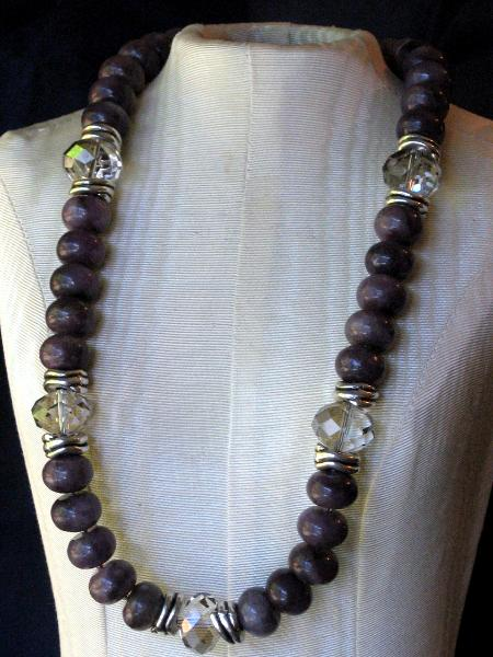 Sugilite and Crystal Necklace