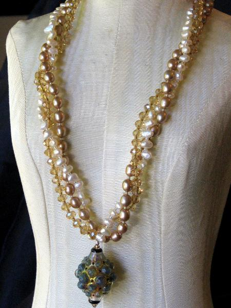 Aureate Gems Multi-strand Necklace