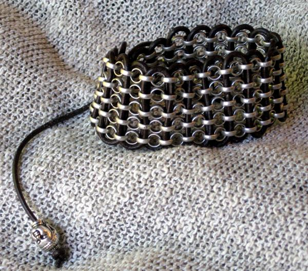 Rollo Chain and Leather Bracelet
