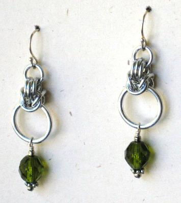 Byzantine Aluminum Chainmaille Earrings